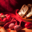 Stock Photo: Easter eggs still-life