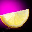 Lemon slice on glass — Stock Photo #2855127