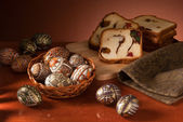Easter eggs still-life — Stock Photo