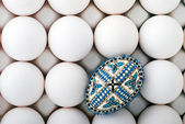 Romanian decorated easter egg — Stock Photo