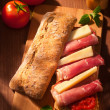 Ciabatta sandwich — Stock Photo