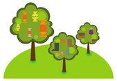 Trees — Stock Vector