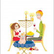 Happy jewish family - Stock Vector