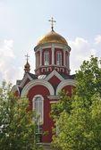 Orthodox Church in Petrovsky Park — Stock Photo