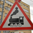 "Road sign ""crossing"" — Stock Photo"