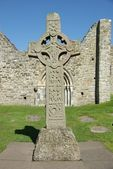 Celtic cross in Clonmacnoise, Ireland — Stock Photo