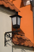 Lantern on the house — Stock Photo