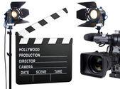 灯光、 摄影机、 行动 — 图库照片