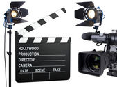 Luzes, câmera, ação — Foto Stock