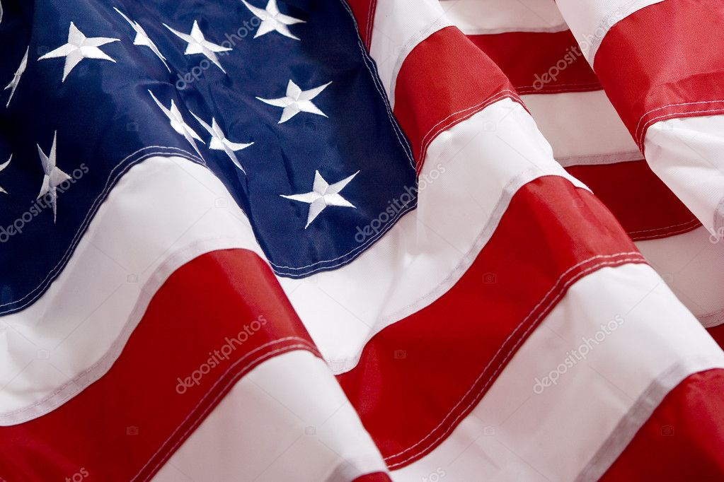 Wavey American flag background  — Stock Photo #2760860