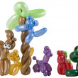 Stock Photo: Balloon animal group isolated on white