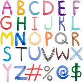 Set completo di font palloncino contorto — Foto Stock