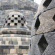Borobudur stupas — Stock Photo