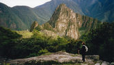 Inca trail mach picchu peru — Stock Photo