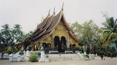 Luang prabang tropical temple laos — Stock Photo