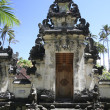 Balinese temple gates — Stock Photo