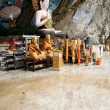Cave buddha krabi thailand — Stock Photo