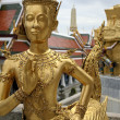 Golden kinnari bangkok grand palace — Stock Photo #2807647
