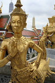 Golden kinnari bangkok grand palace — Stock Photo