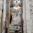 Big buddha sukothai — Stock Photo