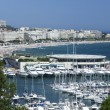 Cannes harbour yachts france — Stock Photo