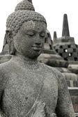 Borobudur buddha — Stock Photo