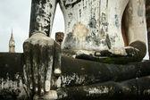 Buddha view sukothai — Stock Photo