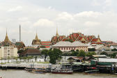 Grand palace skyline bangkok — Stock Photo
