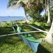 Outrigger canoe - Stock Photo