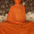 Orange buddha — Stock Photo