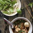 Pork noodle soup — Stock Photo