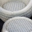 Rattan furniture — Stock Photo