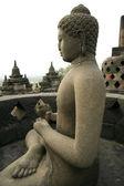 Borobudur buddha — Stock fotografie