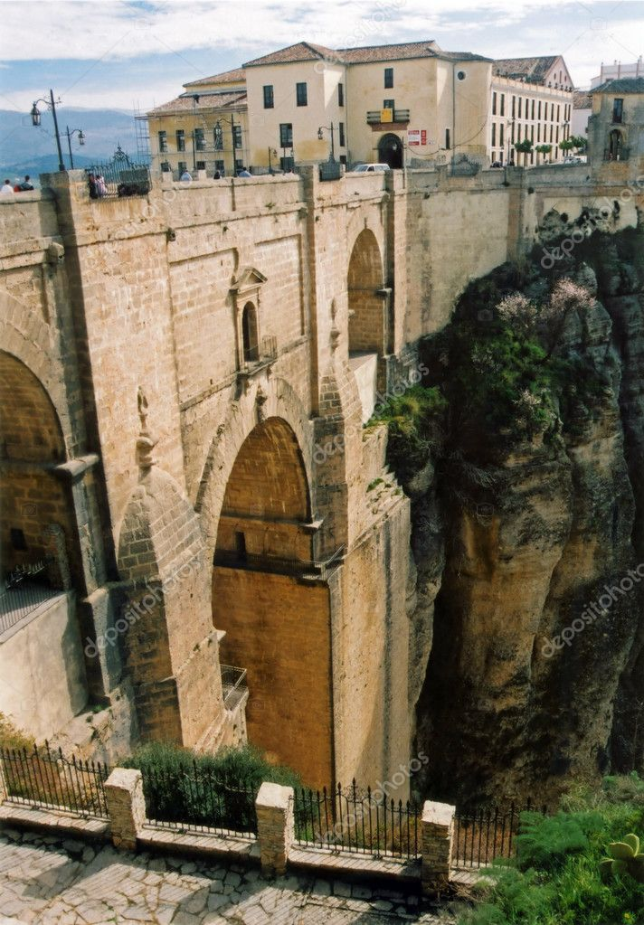 Historical bridge into ronda andalucia spain  Stock Photo #2916837