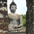 Sukothai ancient buddha - Stock Photo