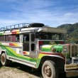 Stock Photo: Traditional philippine jeepney