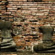 Stock Photo: Headless buddhas
