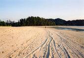Pláž stopy — Stock fotografie