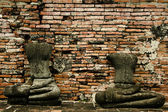 Headless buddhas — Stock Photo