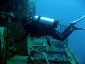 Wreck diver — Stock Photo