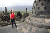 Borobudur girl — Stock Photo
