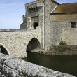 Stock Photo: Leeds castle moat bridge kent