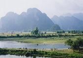 Vang vieng landscape laos — Stock Photo