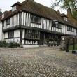 Stock Photo: Cobbled street tudor house rye