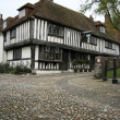Cobbled street tudor house rye — Stock Photo