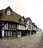 Cobbled street tudor house rye — Stock Photo