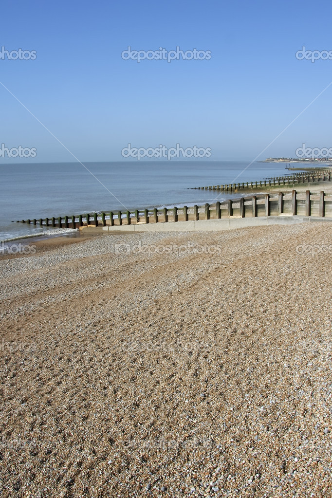 Pebble beach of st leonards in hastings east sussex england — Stock Photo #3002024