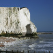 Stock Photo: Chalk cliffs sussex coast