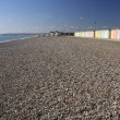 Beach huts seaford head sussex - 图库照片
