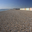 Beach huts seaford head sussex - Stok fotoğraf